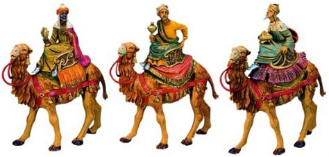 5 fontanini magi discount nativity fontanini by three on camels set 3 5 inch each