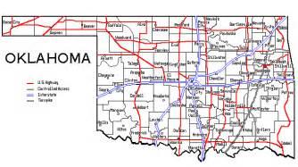 oklahoma map showing cities oklahoma map