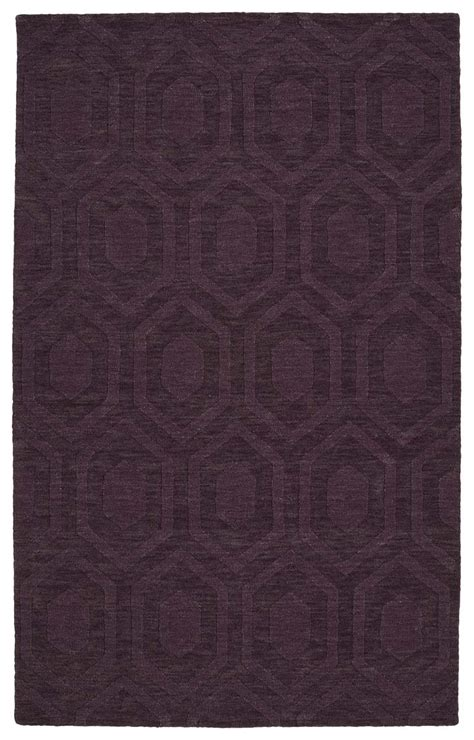 Modern Purple Rugs Kaleen Imprints Modern Ipm01 95 Purple Rug