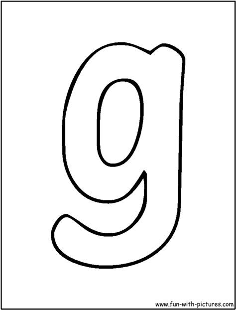 Lowercase G Coloring Page by Letters Coloring Pages Coloring Home