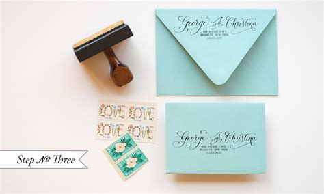 return address st for wedding invitations diy quot blue box quot inspired rubber st wedding