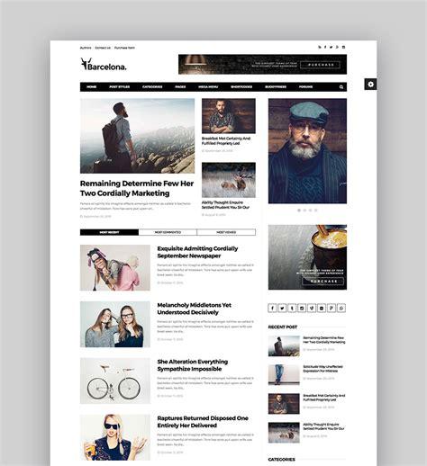 Best Wordpress Magazine Themes For Blog And News Websites Codeholder Net Best Magazine Website Templates