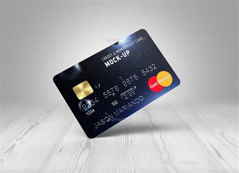 Credit Card Mockup Template Credit Bank Card Mock Up By Ayashi Graphicriver