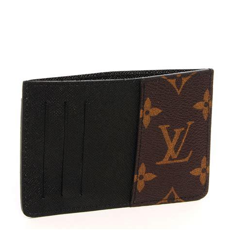 Louis Vuitton Lv Monogram Coklat Tempat Card Holder Pocket Chocolate louis vuitton monogram macassar neo porte cartes card