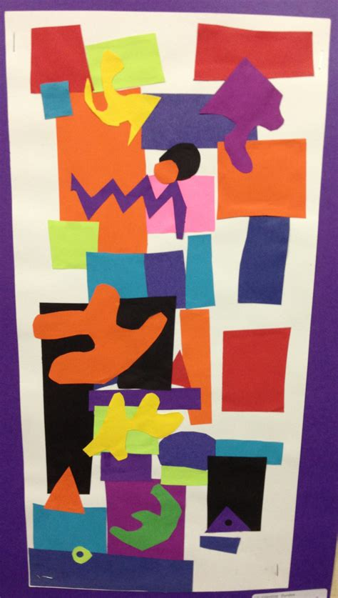 picasso geometric paintings the smartteacher resource matisse inspired collage