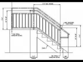 Standard Height Of Handrail Stair Railing Height Standard A More Decor