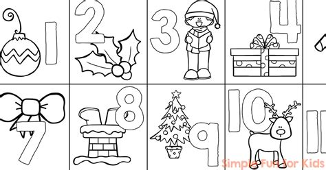 printable advent calendar coloring page christmas countdown day 1 advent calendar coloring page