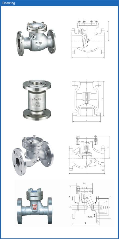swing check valve application din jis api dn15 dn20 dn25 dn32 dn40 dn50 dn65 dn80 dn100
