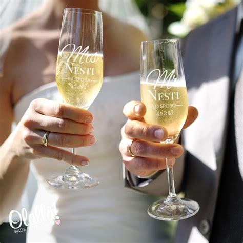bicchieri personalizzati bicchieri flute mr e mrs per il brindisi degli sposi