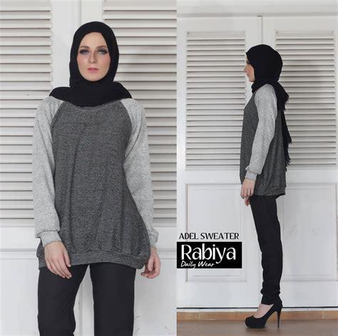 Baju Muslim Tunik Shafina adel sweater baju muslim gamis modern