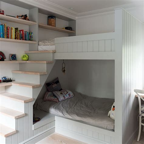 Childrens Bunk Beds Uk Children S Room With Built In Bunk Beds Childrens Room Decorating Housetohome Co Uk