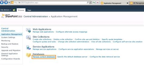 Centralized Section 8 Application by Sharepoint Move Content Database Of Sharepoint 2010