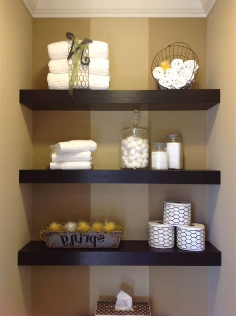 Floating Shelves Bathroom Diy Round Wall Mirror Decorative Bathroom Shelves Decorating Ideas