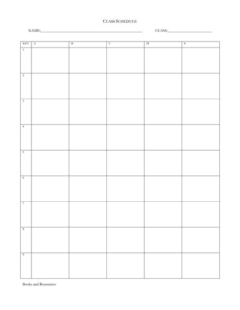 7 best images of blank daily school schedule template blank college schedule template best photos of weekly