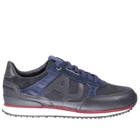 armani shoes lyst armani sneakers in blue for
