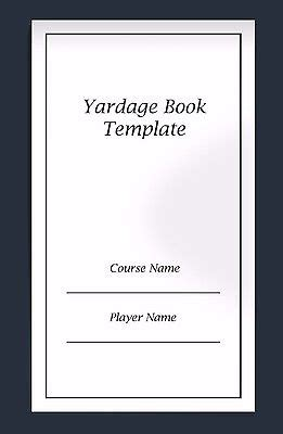 golf yardage book template yardage book templates box of 100 by looitek what s