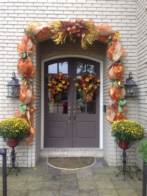 Door Garland by Thanksgiving Fall Outdoor Deco Mesh Garland Decor For