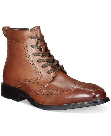 alfani s wingtip boots only at macy s in brown