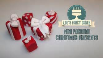 fondant christmas presents mini cake toppers how to