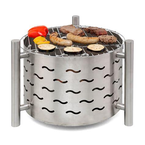 feuerschale mit grillrost edelstahl tepro feuerstelle feuerschale mit grillrost silverado
