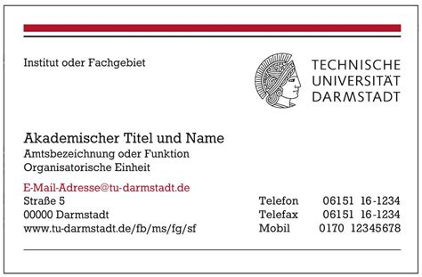 Vorlage Word Tu Darmstadt arbeitsmittel zum corporate design technische