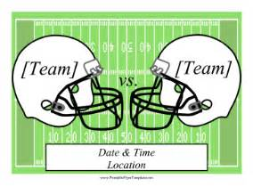 Free Football Template Printable Football Flyer