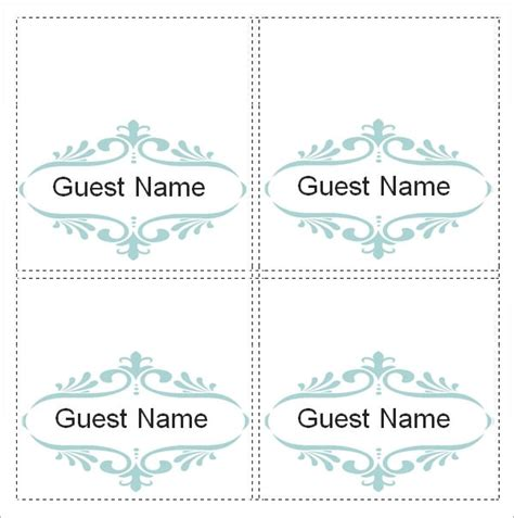 word place card template 4 per sheet free place card template 6 per sheet the best resume