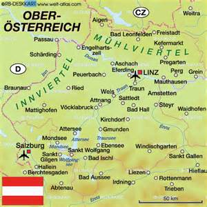 Map of upper austria austria map in the atlas of the world world