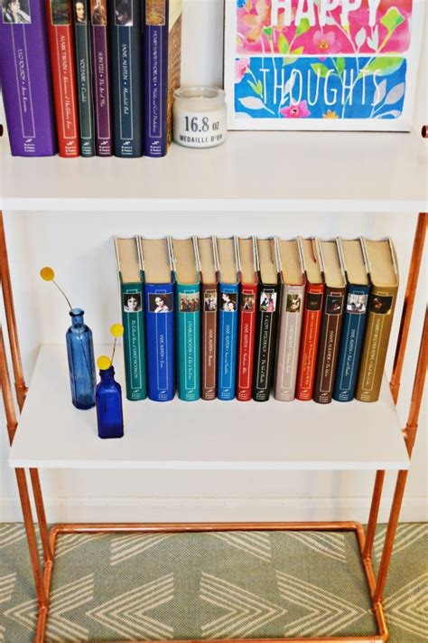 diy copper pipe bookcase a joyful riot