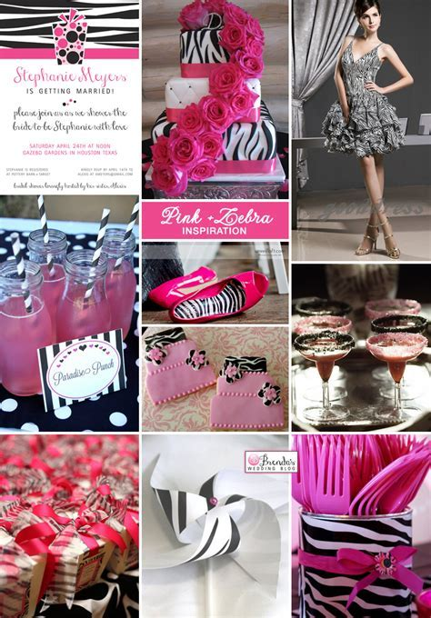Pink Zebra Bridal Shower Ideas : Pink and Black Party