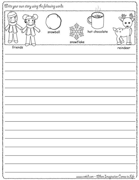 printable writing paper for winter snowflake writing paper first grade winter writing