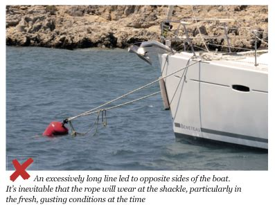 swinging mooring how to avoid chafe on swinging moorings yachting monthly
