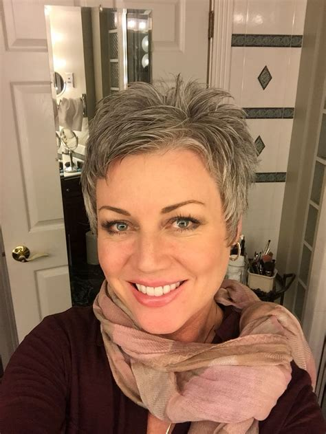 why are grey hairs harder to cut 25 best ideas about short gray hair on pinterest grey