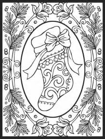 detailed christmas coloring pages coloring