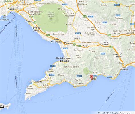 map of amalfi coast amalfi coast italy map images