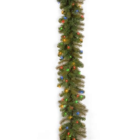 ge garland christmas lights ge 18 ft holiday classics artificial garland with 50 c6