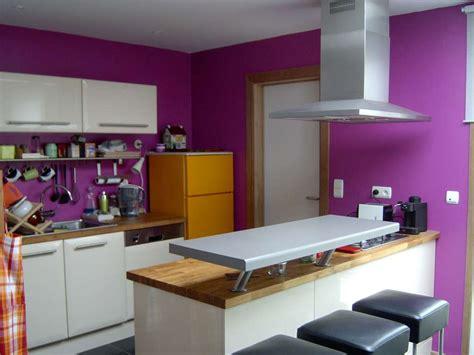 peinture cuisine violet decoration interieur cuisine peinture