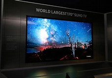Image result for What is the biggest TV in the world?. Size: 228 x 160. Source: www.ibtimes.co.uk