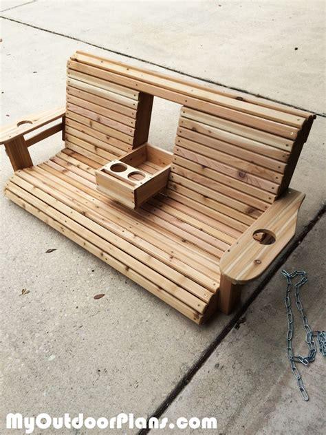 diy wooden diy wood porch swing myoutdoorplans free woodworking