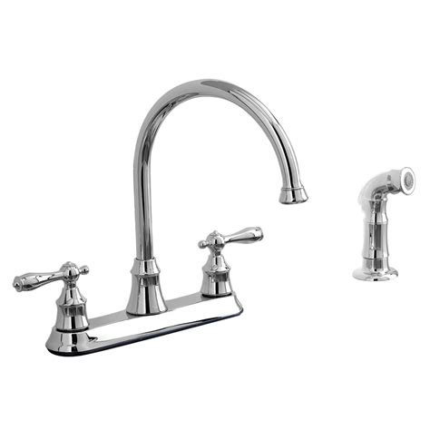 aquasource kitchen faucets shop aquasource chrome 2 handle high arc kitchen faucet side with spray at lowes