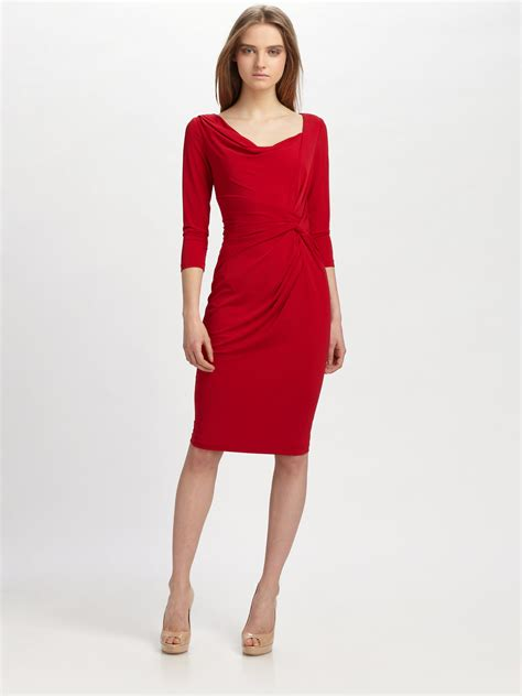 I Jersey Dresses by Lyst David Meister Matte Jersey Dress In