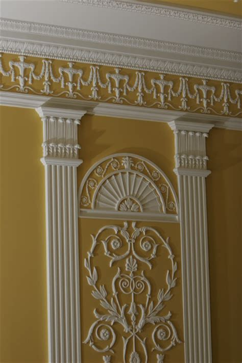 adam style adam style plaster ornament in a private residence