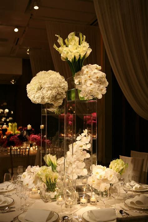 Sophisticated White High Centerpieces For Summer Weddings High Centerpieces For Weddings