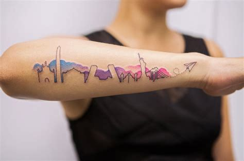 watercolor tattoo vancouver 25 cityscape tattoos of the world s most beautiful