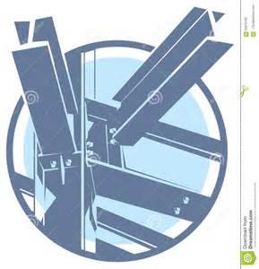vector construction metal frame icon stock vector image