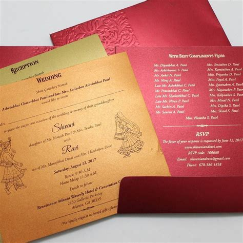 A usual #gujarati style of wedding invitations printed