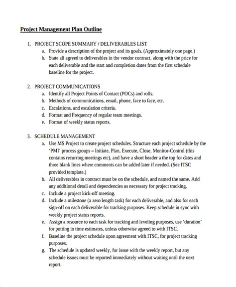 Project Management Course Outline For Mba by 34 Best Outline Exles Free Premium Templates