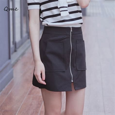 Highwaist Button Black Office Skirt aliexpress buy skirt black high waist office