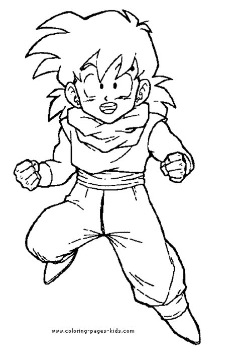 coloring pages of dragon ball z characters keg coloring pages