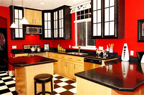 black white and red kitchen ideas kitchen wall painting interior decorating accessories